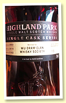 Highland Park 15 yo 2003/2019 (58.2%, OB for 'Wu Dram Clan Whisky Society', cask #6162, 1st fill Spanish oak sherry butt, 628 bottles)