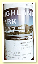 Highland Park 2007/2018 (53.7%, Duncan Taylor for Malt Whisky Hong Kong, cask #5022603, sherry octave finish, 103 bottles)