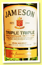 Jameson 'Triple Triple' (40%, OB, Irish blend, 2019)Jameson 'Triple Triple' (40%, OB, Irish blend, 2019)