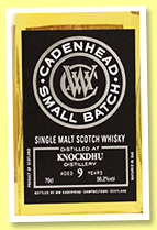 Knockdhu 9 yo 2010/2019 (56.2%, Cadenhead, Small Batch, 888 bottles)