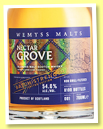 Nectar Grove 'Batch Strength' (54%, Wemyss Malts, Batch 1, blended malt, 8100 bottles, 2019)