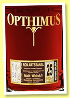 Opthimus 25 yo 'finished in Malt Whisky' (43%, OB, Oliver & Oliver, Dominican Republic, 2014)