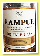 Rampur 'Double Cask' (45%, OB, India, 2019)