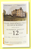 Teaninich 12 yo 2006/2019 (51.7%, Hidden Spirits, cask #TH619)