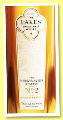 The Lakes 'Whiskymaker's Reserve No.2' (60.9%, OB, England, 2019)