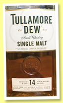 Tullamore D.e.w. 14 yo (41.3%, OB, Irish single malt, 2019)