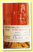 Aberlour 14 yo 2005/2019 (58.7%, OB for The Whisky Lodge, 2nd fill oloroso sherry butt, cask #213017, 630 bottles)