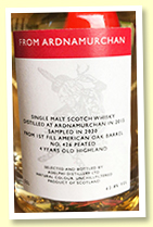 Ardnamurchan 4 yo 2015/2020 (62.8%, OB for virtual tasting, cask #426, 1st fill barrel, 165 miniatures)