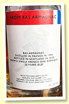 Bas Armagnac 25 yo 1994/2020 (55.1%, Adelphi, French oak barrique)