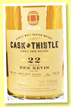 Ben Nevis 22 yo 1997/2019 (52.5%, Cask & Thistle for SCSM, China, refill butt, cask #126, 300 bottles)