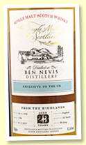 Ben Nevis 23 yo 1996/2019 (53.6%, Elixir Distillers 'The Single Malts Of Scotland', cask #1784, hogshead, 182 bottles)