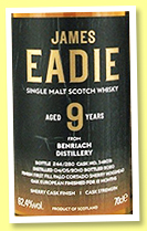 Benriach 9 yo 2010/2019 (62.4%, James Eadie, Paolo Cortado finish)
