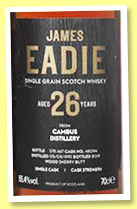 Cambus 26 yo 1993/2019 (55.4%, James Eadie, sherry, cask #48094, 617 bottles)