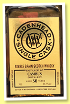 Cambus 30 yo 1988/2019 (46.1%, Cadenhead, Single Cask, bourbon hogshead, 300 bottles)