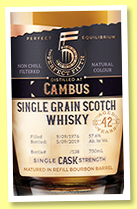 Cambus 42 yo 1976/2019 (57.6%, The Perfect Fifth, bourbon, cask #05916, 138 bottles)