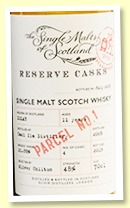 Caol Ila 11 yo 2008/2019 'Reserve Cask' (48%, Elixir Distillers, Single Malts of Scotland, hogsheads)