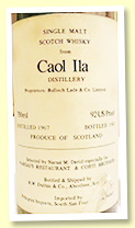 Caol Ila 1967/1983 (92 US proof, RW Duthie 'Selected by Narsai M David for Narsai's Restaurant and Corti Brothers)