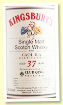 Caol Ila 37 yo 1982/2019 (56.3%, Kingsbury for Club Qing Hong Kong, cask #700, sherry butt)