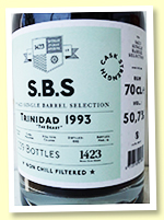 Caroni 26 yo 1993/2019 (50.7%, 1423 World Class Spirits 'Single barrel selection', Trinidad, barrel, 239 bottles)
