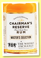 Chairman's Reserve 8 yo 2011/2019 'Master's Selection' (46%, OB, for The Whisky Exchange, St. Lucia)
