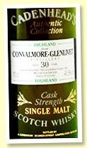 Convalmore 30 yo 1962/1993 (46.5%, Cadenhead Authentic Collection)