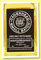 Craigellachie 11 yo 2007/2019 (54%, Cadenhead, Small Batch, 834 bottles)