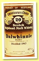 Dalwhinnie 20 yo 1963 (40%, Gordon & MacPhail, Connoisseurs Choice, old brown label, +/-1983)