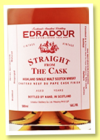 Edradour 10 yo 2002/2012 (58.3%, OB, Straight from the Cask, Château Neuf du Pape finish)