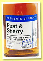 Elements of Islay 'Peat & Sherry' (56.8%, The Whisky Exchange 20th Anniversary, Islay blended malt, 2019)