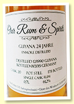 Enmore 24 yo 1990/2015 (61.2%, Our & Spirits, Guyana, cask #20, 178 bottles)
