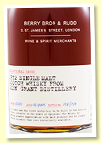 Glen Grant 46 yo 1972/2019 (44.8%, Berry Brothers 'Exceptional Casks', cask #8240, refill oloroso sherry butt, 159 bottles)