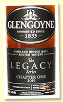 Glengoyne 'The Legacy' Chapter One (48%, OB, 1st fill oloroso sherry and refill casks, 2019)