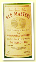 Glenrothes 1988/2004 (53.5%, James MacArthur 'Old Masters', cask #7022)