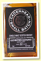 Glenrothes-Glenlivet 22 yo 1996/2019 (50.1%, Cadenhead Small Batch, three bourbon hogsheads, 942 bottles)