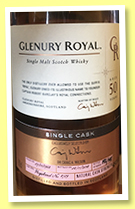 Glenury Royal 50 yo 1968/2018 (45%, OB, Casks of Distinction, hogshead, cask #8709, 192 bottles)