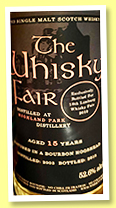 Highland Park 15 yo 2003/2018 (52.6%, The Whisky Fair Limburg 2019, bourbon hogshead)