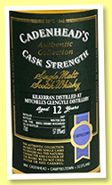 Kilkerran 12 yo 2007/2020 (57.8%, Cadenhead, Authentic Collection, refill sherry hogshead, 330 bottles)