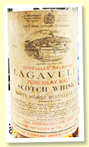 Lagavulin 12 yo (43%, OB 'White Horse', Jardine Matheson & Co Japan import, 1970s)