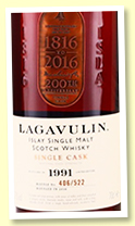 Lagavulin 1991/2016 (52.7%, OB '200th Anniversary', sherry butt, 522 bottles)