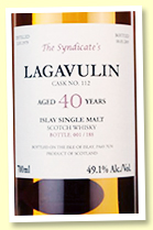 Lagavulin 40 yo 1979/2019 (49.1%, The Syndicate, cask #112, 188 bottles)