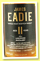 Linkwood 11 yo 2007/2019 (54.9%, James Eadie, Amontillado cask finish)