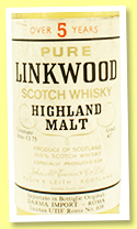 Linkwood 5 yo (43%, OB, Darma Import, 75cl, +/-1975)