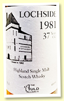 Lochside 37 yo 1981/2019 (48.6%, The Auld Alliance)