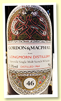Longmorn 46 yo 1964/2010 (51.3%, Gordon & MacPhail for Japan Import System, cask #1033, 1st fill sherry hogshead, 165 bottles)