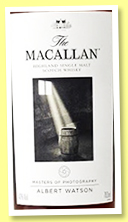 Macallan 20 yo (43%, OB, Master of Photography, Albert Watson, 1000 bottles, 2010)