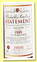 Macallan 27 yo 1989/2017 (45.7%, Blackadder, Raw Cask, Statement,  hogshead, cask #5425, 215 bottles)