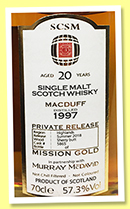 Macduff 20 yo 1997/2018 (57.3%, Murray McDavid for SCSM, China, sherry butts, cask #5865, 634 bottles)