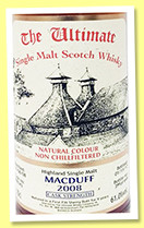 Macduff 9 yo 2008/2017 (61%, Van Wees, The Ultimate, first fill sherry, cask #900343, 645 bottles)