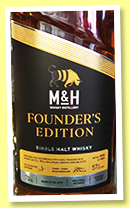 Milk & Honey 'Founder's Edition' (57%, OB, Israel, 1000 bottles, 2019)