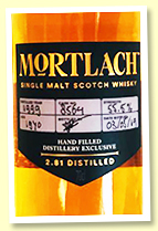Mortlach 19 yo 1999/2019 'Hand Fill' (55.5%, OB for Spirit Of Speyside, cask #8564, sherry)